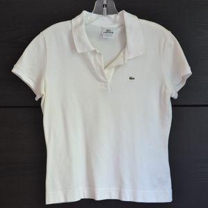 LACOSTE | White Polo Shirt Top